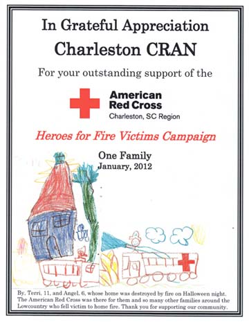 Cran receives certificate of appreciation from red cross custom red cross certificate yadclub Image collections