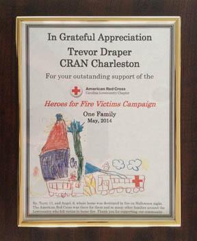 Red Cross Plaque